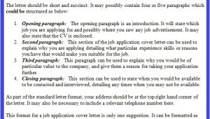 Covering Letter to Apply for A Job Job Application Letter Example October 2012