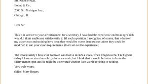 Covering Letter when Applying for A Job Sample Cover Letter format for Job Application