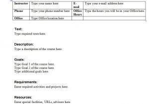 Create A Syllabus Template Syllabus Template Course Syllabus Template