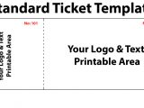 Create A Ticket Template Free Free Editable Standard Ticket Template Example for Concert