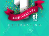 Create Anniversary Card with Photo Free 1 Year Anniversary Invitation Card or Emblem Celebration Template