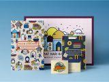 Create Eid Card Your Own Hari Raya Aidilfitri Print Merchandise Set On Behance