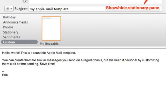 Create Email Template Mac Mail How to Create Reusable Apple Mail Templates