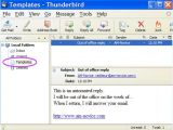 Create Email Template Thunderbird Out Of Office Reply with Thunderbird