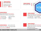 Create HTML Email Signature Template Free Download Email Signatures HTML Template On Behance