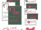 Create Love Card with Name 5 Senses Printable Gift Tags Diy Gifts for Boyfriend Love