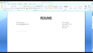 Create Resume format Word Simple Resume In Microsoft Word Youtube
