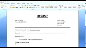 Create Simple Resume format How to Make A Simple Resume Cover Letter with Resume