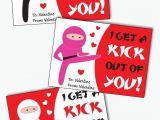 Create Valentine Card with Photo Ninja Valentines Cards for Kids Printable Karate Valentine