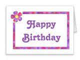 Create Your Own Happy Birthday Card Custom 60s Flower Birthday Card Zazzle Com Flower