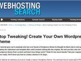 Create Your Own WordPress Template WordPress theme Development Tutorials the Design Work