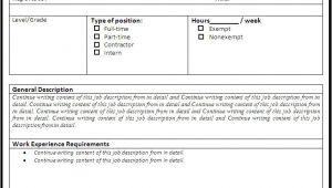 Creating A Job Description Template Job Description Template Free formats Excel Word