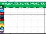 Creating A social Media Calendar Template social Media Content Calendar Template Excel Marketing