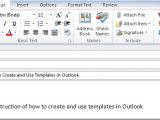 Creating An Email Template In Outlook 2007 How to Create and Use Templates In Outlook