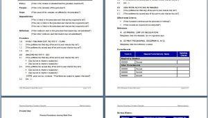 Creating sop Template Writing Standard Operating Procedures Writing sop