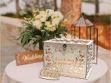 Creative Card Box Ideas Weddings O Heart Diy Wood Wedding Card Box Rustic Gift Box with Lock Wedding Money Box Hollow Hearts Shaped Gift Card Box and Card Sign for Wedding Reception