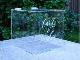 Creative Card Box Ideas Weddings Wishing Well Box Acrylic Wedding Card Box Wedding Card