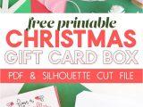 Creative Gift Card Basket Ideas Diy Gift Card Box Free Printable Gift Idea for Christmas