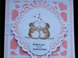 Creative Love Card for Her S179 Hand Made Anniversary Card Using Sue Wilson ornate Oval