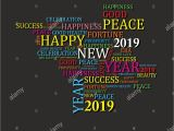 Creative New Year Card Design 2019 Happy New Year with Creative Design for Your Greetings
