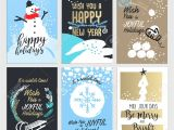 Creative New Year Card Design Christmas and New Year Greeting Card Concepts Set Od Flat Design