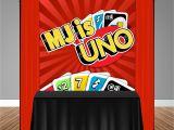 Creative Uno Wild Card Ideas Uno themed 6×6 Banner Backdrop Step Repeat Design Print