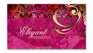 Creative Visiting Card Design for event Management Company Wedding event Planner Indian Damask Pink Gold Business Card