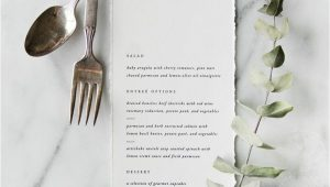 Creative Wedding Reception Menu Card Ideas sofia Semi Custom Menu with Images Wedding Menus Design