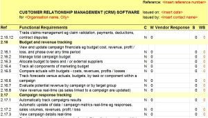 Crm Requirements Template Revised Crm Rfi Rfp Templates Released by Axia Axia