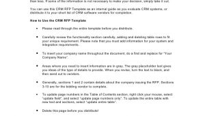Crm Rfp Template Crm Rfp Template