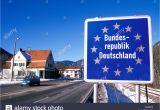 Cross Border Card Germany Austria Germany Austria Border Stockfotos Germany Austria Border