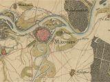 Cross Border Card Germany Austria Muhlen Galgen Und Wege Historische Karte Von