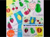 Cue Card On Beautiful Person Flashcards for Kids Fruits 3d Fruits Flash Card Tutorial