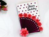 Cue Card On Handmade Gift Easy Beautiful Handmade Birthday Cards Birthday Card Idea
