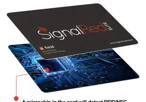 Cue Card On Modern Technology Kreditkartenschutz 1 Rfid Blocking Karte Schirmt Die Rfid