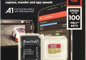Cue Card On Modern Technology Sandisk Extreme 64 Gb Microsdxc Speicherkarte Sd Adapter Bis Zu 100 Mb Sek Gold Rot Class 10 U3 V30 A1