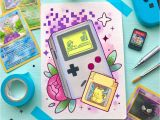 Cue Card topic Beautiful Person Gameboy Classic Tattoo Flash Print with Images Kawaii