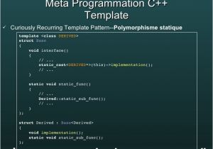 Curiously Recurring Template Pattern C Metaprogramming Multidimensional Typelist