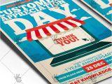 Customer Appreciation Day Flyer Template Customer Appreciation Day Business Flyer Psd Template