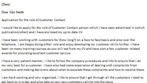 Customer Care Agent Cover Letter Customer Contact Agent Cover Letter Example Icover org Uk