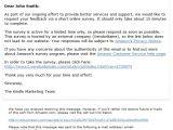 Customer Satisfaction Survey Email Invitation Template Amazon Com Help About Amazon Consumer Survey E Mails