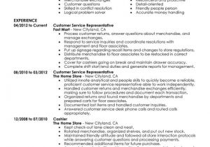 Customer Service Representative Resume Template Customer Service Representative Resume Examples Created