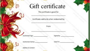 Customizable Christmas Gift Certificate Template Christmas Gift Certificate Template Certificate Templates