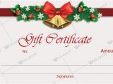 Customizable Christmas Gift Certificate Template Christmas Gift Certificate Templates for Word Editable