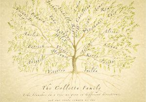 Customizable Family Tree Template Custom Family Tree Family Tree Print Personalized