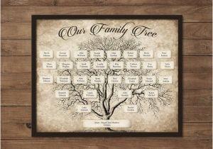 Customizable Family Tree Template Custom Family Tree Printable 5 Generation Template Instant