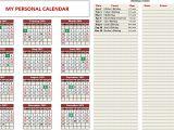 Customized Calendar Template Custom Printable Calendars Excel Template Indzara