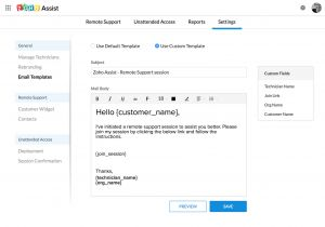 Customized Email Templates Custom Email Templates User Guide Zoho assist