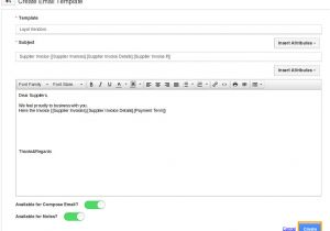 Customized Email Templates How Do I Setup Custom Email Templates for My Supplier