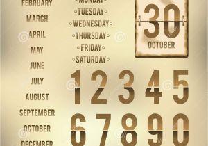 Daily Flip Calendar Template Template for Daily Flip Calendar with Burnt Edges Stock